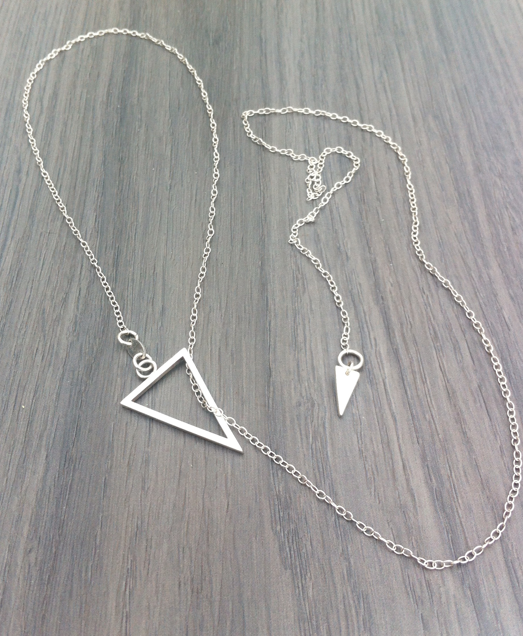 LT01 silver triangle necklace _7
